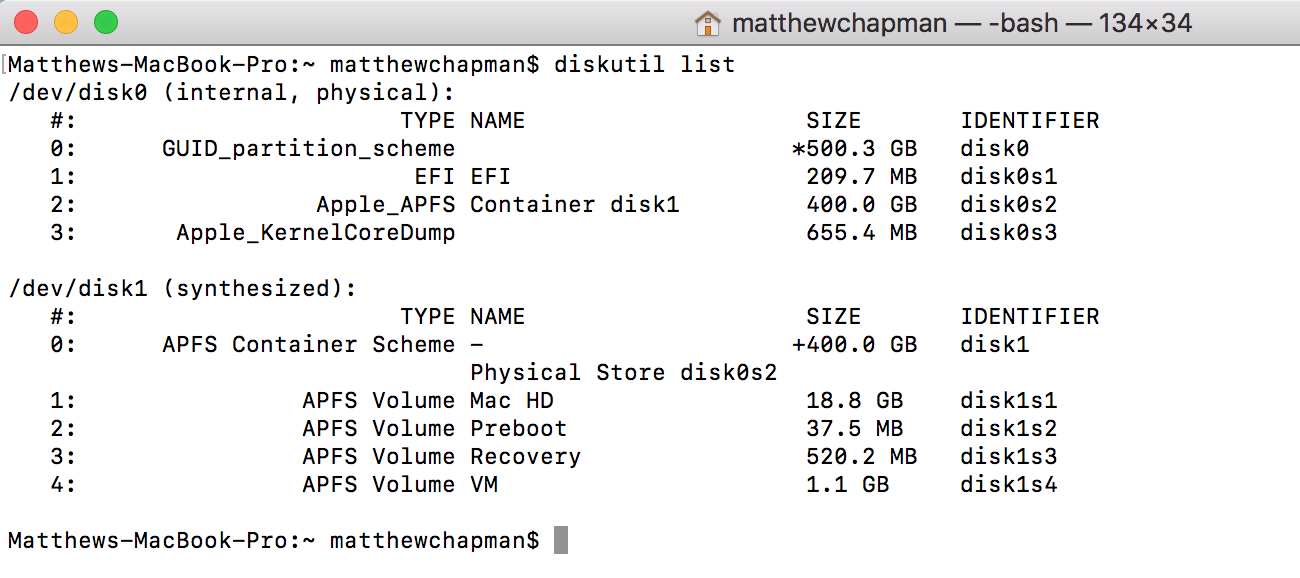 Resize your Apple APFS Volume